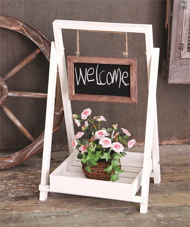 LB huajia ZHANWEI Massivholz Blumentopf Regal Falten Blume Rack Sukkulenten Pflanze Stand Indoor Balkon 34 * 30 * 63cm