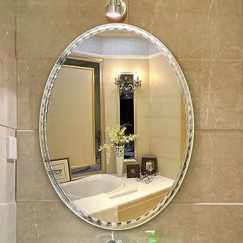 Bloomy Home- Frameless Wand-angebrachter Badezimmer-Spiegel-Oval ...