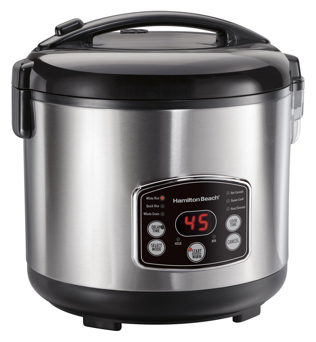 Hamilton Beach (37548) Rice Cooker, 7 Cups uncooked resulting in 14 Cups Cooked with Steam & Rinse Basket