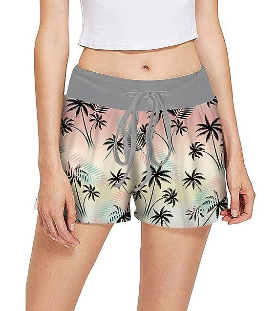 Fanient Pantalones Cortos de Pijama para Mujer Pantalones ...
