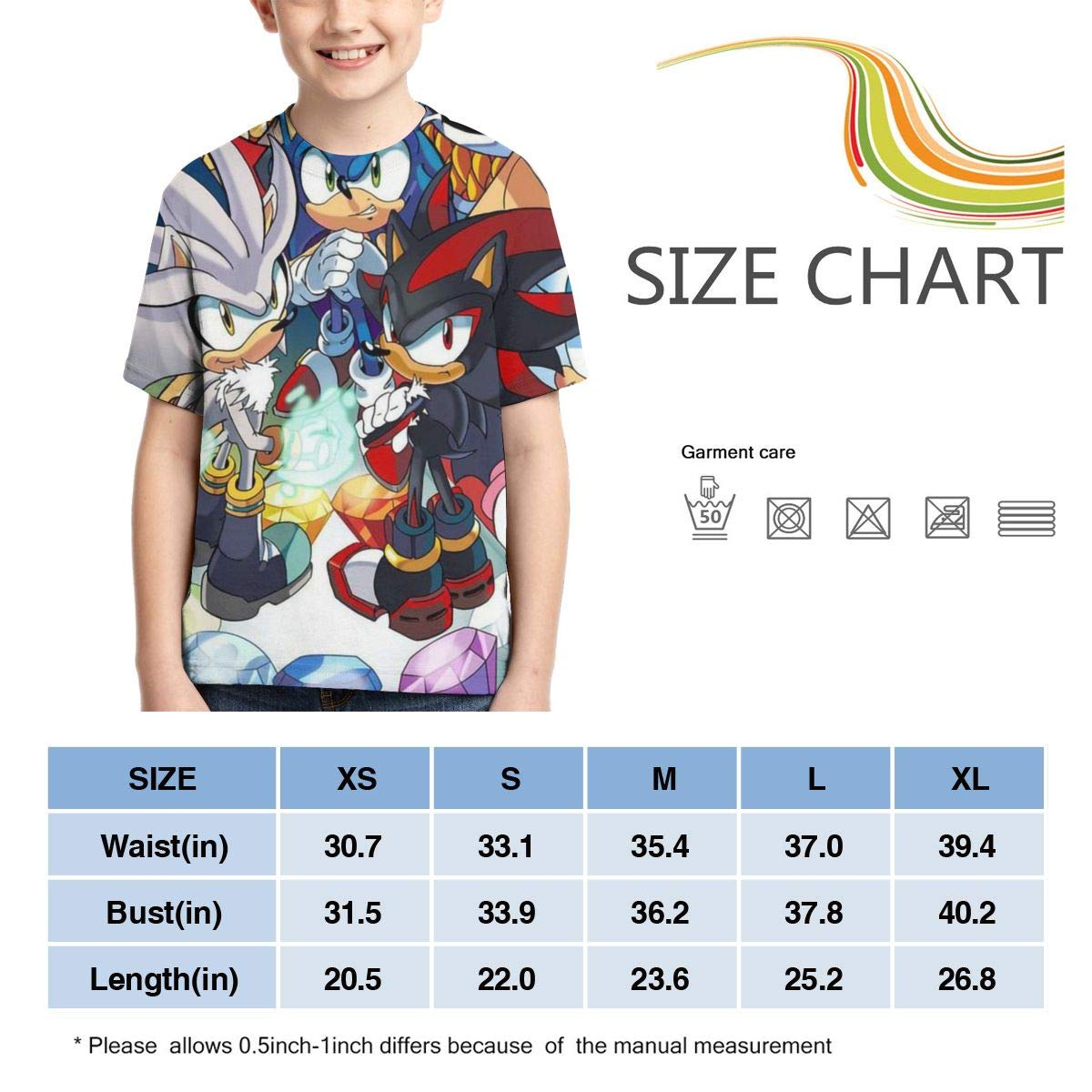 Lula Campbell Short Sleeves So-ni-c Youth and Childrens Round Neck Creative Print T-Shirt Unisex