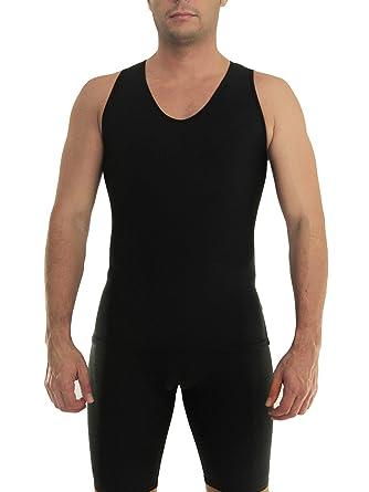 fd09b1c4186ab Amazon.com  Underworks Mens Extreme Gynecomastia Chest Binder V-Tank Top   Clothing