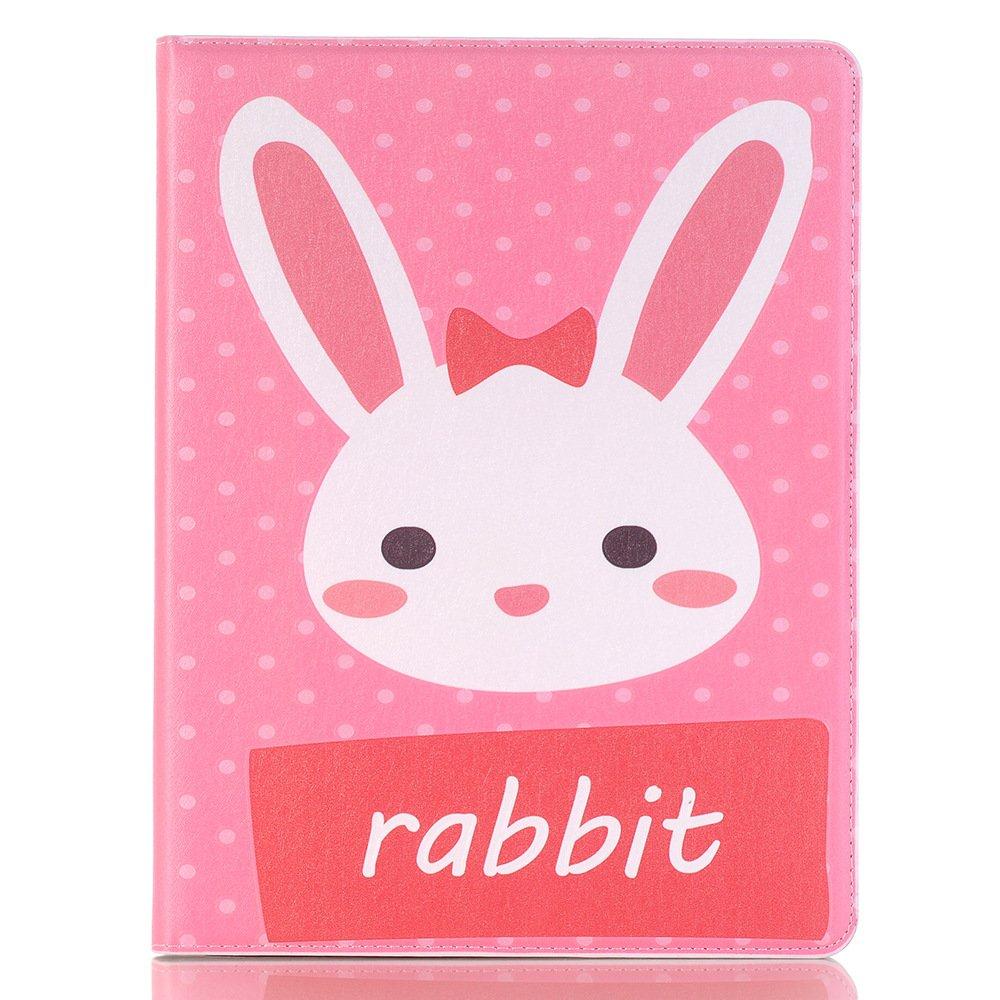 meiliio iPad mini 4ケース、かわいい漫画PUレザー軽量7.9インチケースカバーwith鉛筆ホルダー&カードスロットのみスマート画面保護カバーfor Ipad Mini 4 Mini 4 B07DW47SPP Mini 4|ピンク ウサギ ピンク ウサギ Mini 4