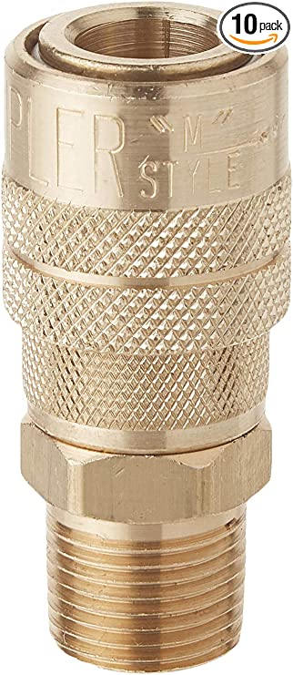Milton 719 3 8 Mnpt M Style Coupler Box Of 10 Automotive Air Conditioning Hose Fitting Products Amazon Com