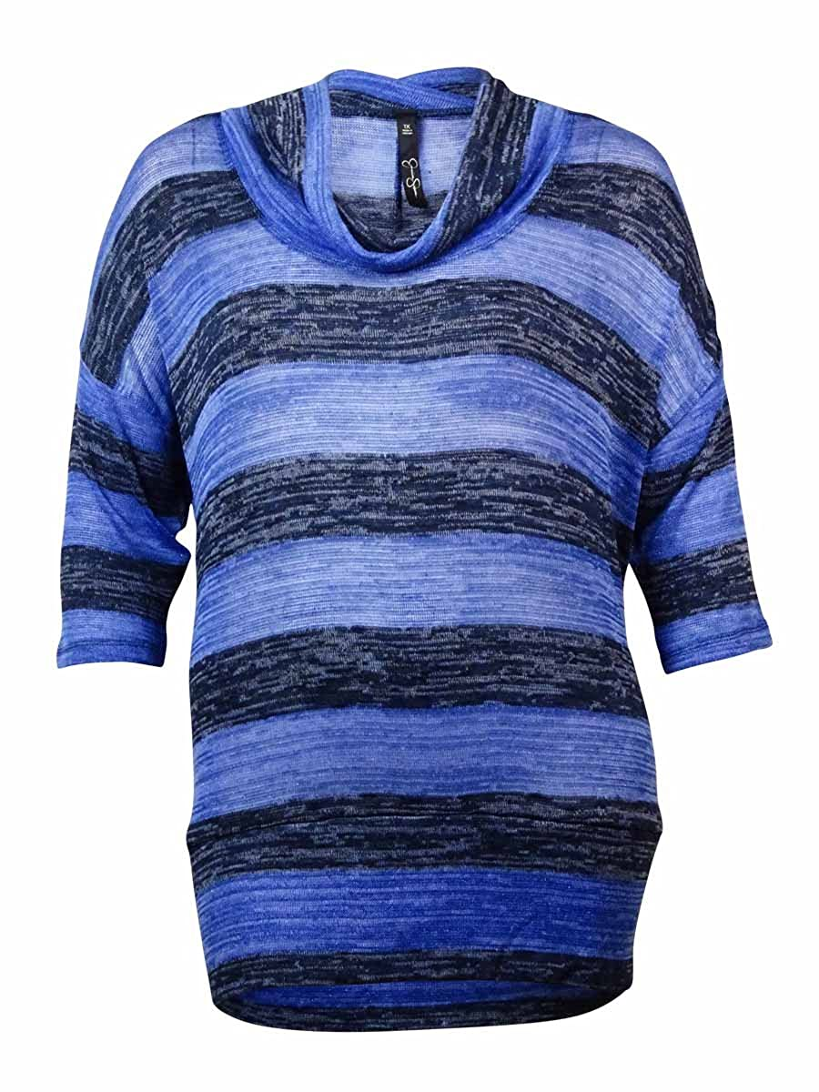 Jessica Simpson Womens Alexandra Cowl Neck Striped Sweater