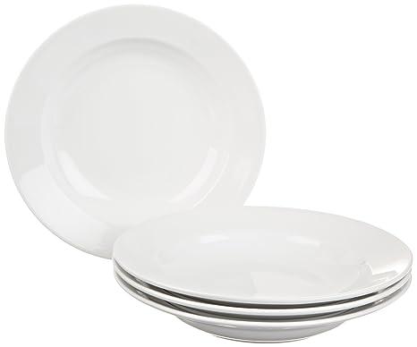 BIA Cordon Bleu Bistro Rim Soup Bowls Set of 4 White  sc 1 st  Amazon.com & Amazon.com: BIA Cordon Bleu Bistro Rim Soup Bowls Set of 4 White ...