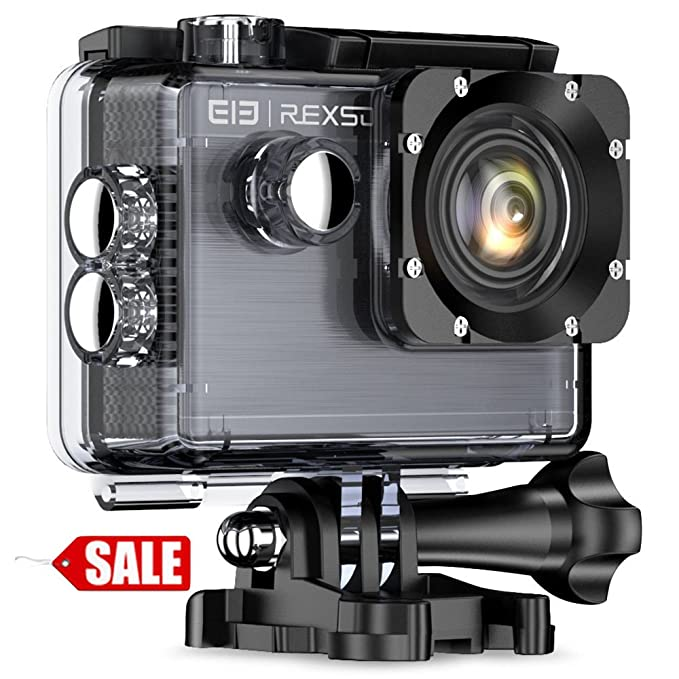 5 opinioni per Elephone REXSO Explorer X 4K 30fps Action Cam WIFI Sport Action Camera Full HD