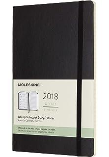 Moleskine DSB18WN3Y17 - Agenda semanal 18 meses, L 13 x 21 ...