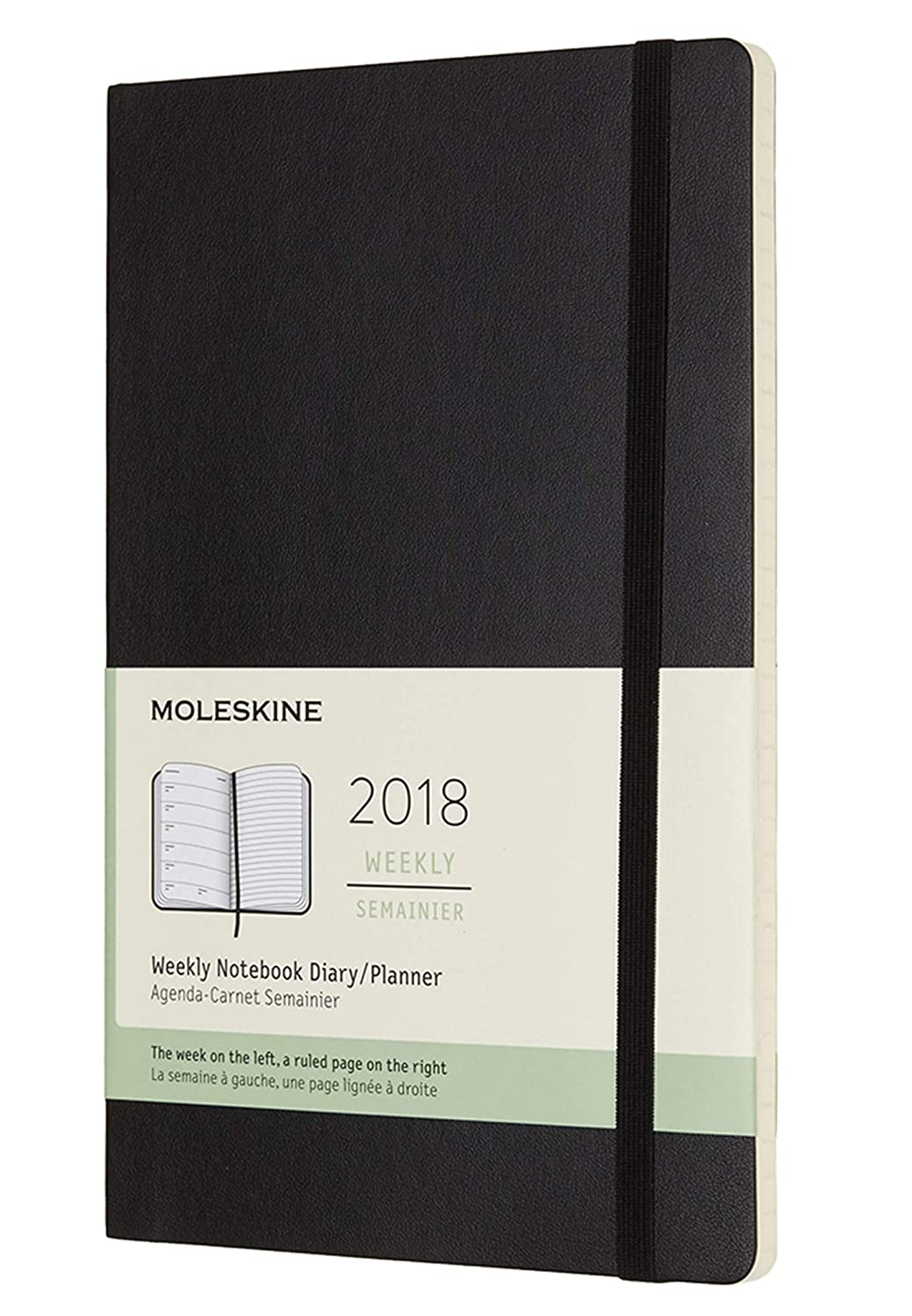 Moleskine 2018 12 Month Weekly Planner Large (5 x 8.25
