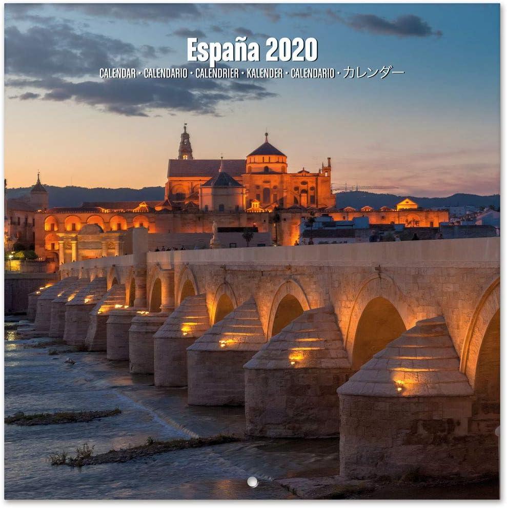 ERIK - Calendario de pared 2020 España, 30 x 30 cm: Amazon.es ...