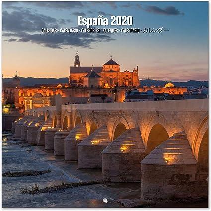 ERIK - Calendario de pared 2020 España, 30 x 30 cm: Amazon.es: Oficina y papelería