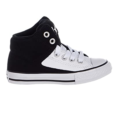 0285d89839c Converse Chuck Taylor All Star High Street Hi Little Shoes -  Black White White