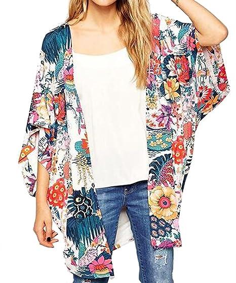Kimono Floral Print Cardigan