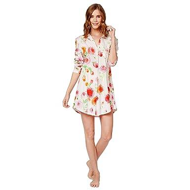 30cf419ce The Cat's Pajamas Tossed Roses Pima Knit Night Shirt at Amazon Women's  Clothing store: