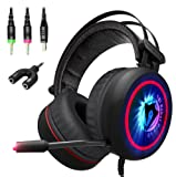 Amazon Price History for:[NEW 2018 Upgraded] Gaming Headset with Mic for PC, XBox One S, PS4, Nintendo, Laptop - Best 7.1 Surround Stereo Sound, USB, Noise Cancelling - Soft Breathing Wired Over-Ear Game Headphones