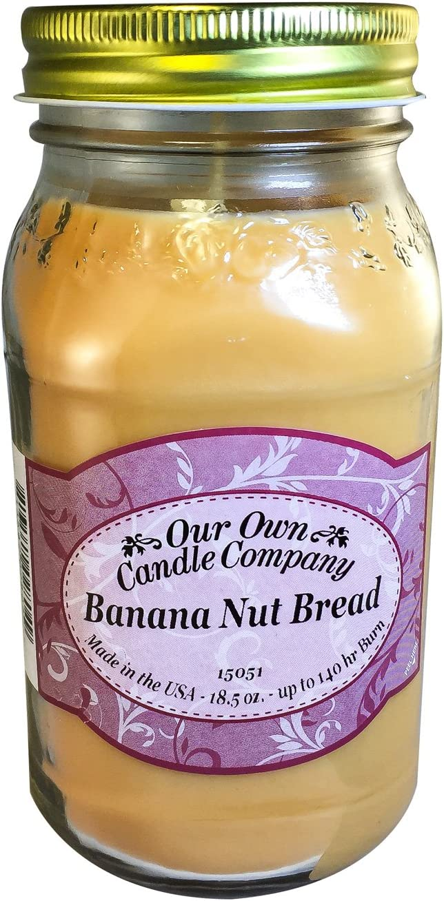 Jar Candles Home Our Own Candle Company French Vanilla Scented Mason Jar Candle 18 Ounce
