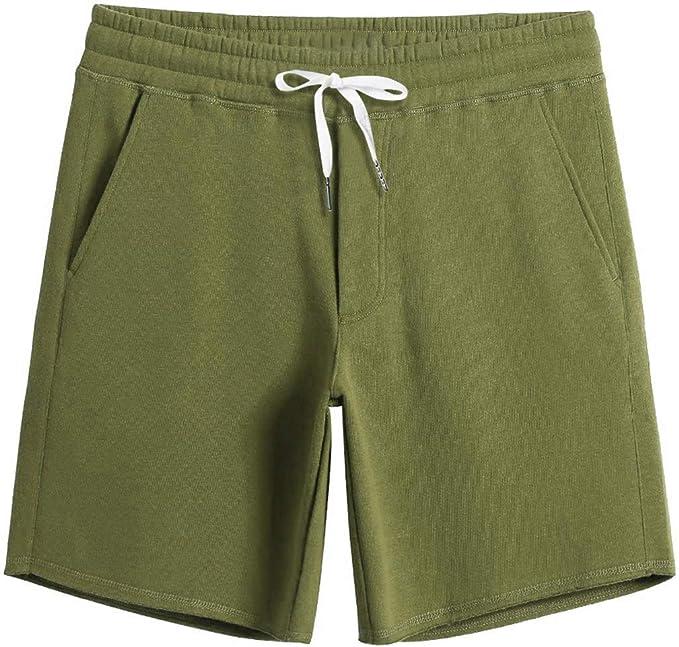 Fanient Pantalones cortos de entrenamiento para hombre, informales ...