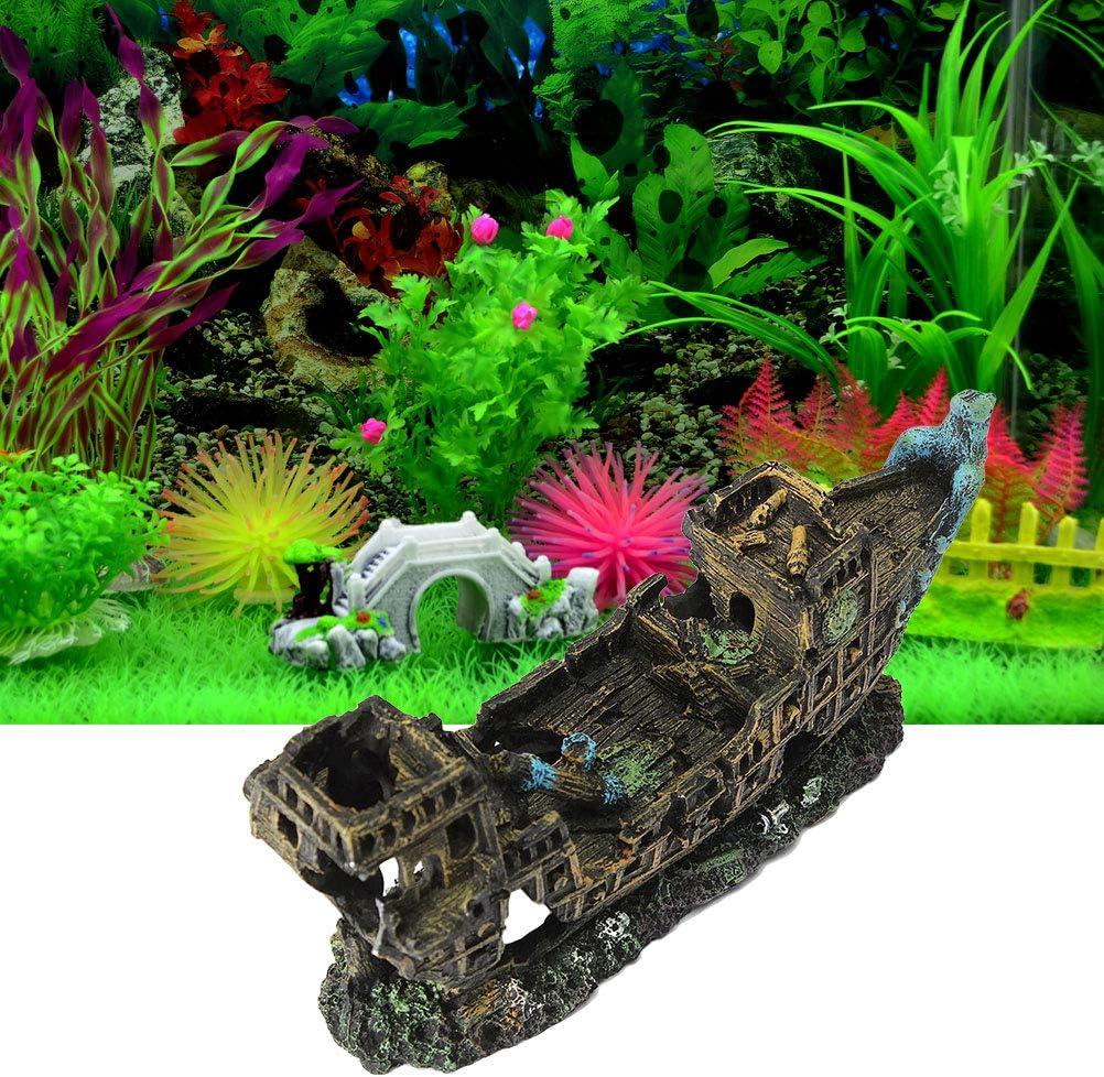 Accessori Acquario Acquario Creativo Arredamento Acquario Paesaggio POPETPOP Simulazione Acquario Resina Resina Pirata Cannone Ornamento Decorazioni Acquario
