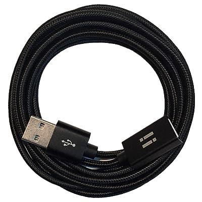 -Cable alargador USB (nylon, de macho a hembra) negro 3 m