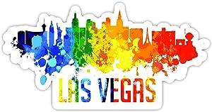 "Las Vegas Nevada City Skyline - Laptop Stickers - 4"" Vinyl Decal - Laptop, Phone, Tablet Vinyl Decal Sticker"