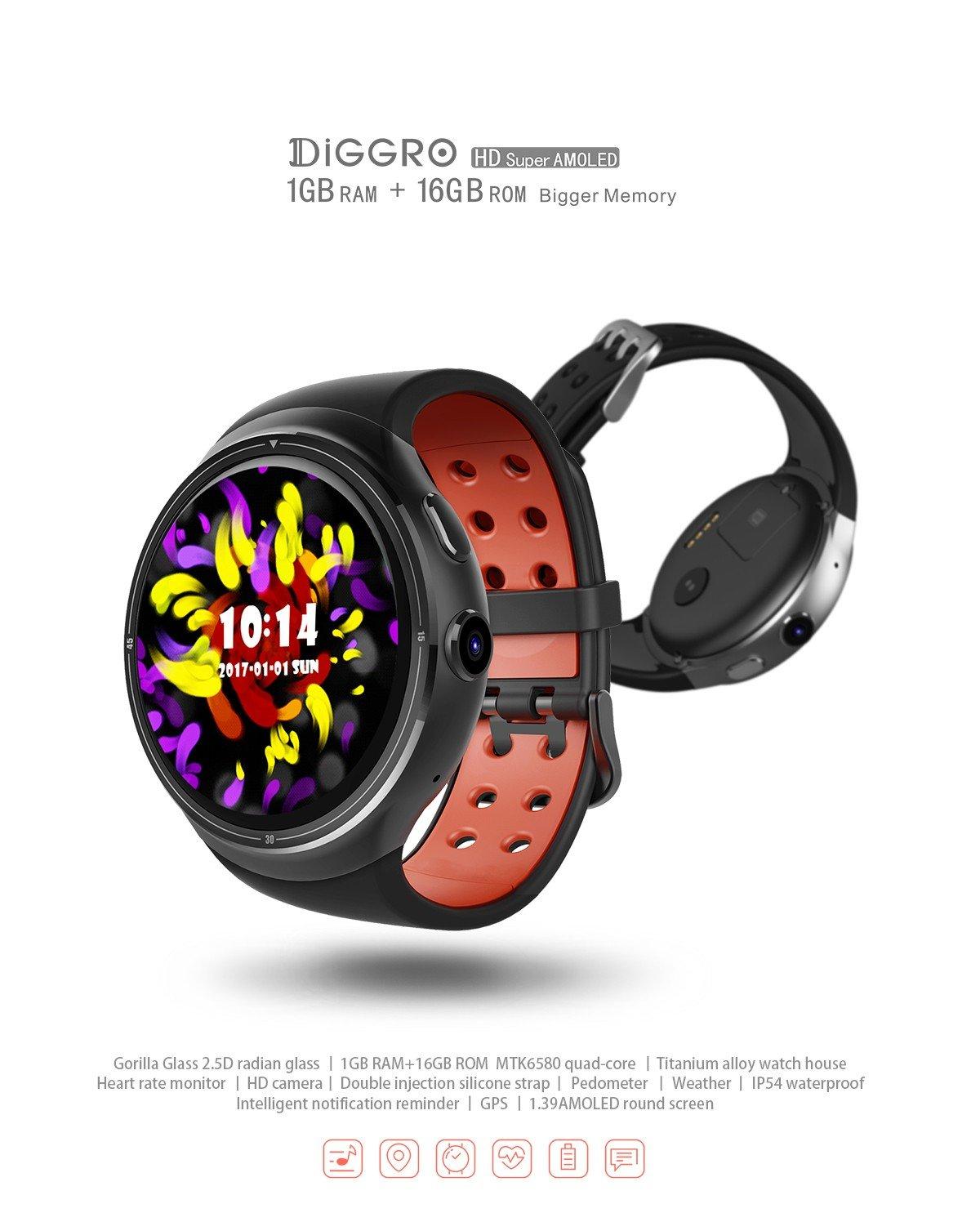 Diggro DI02 DI03 MTK2052C - Reloj inteligente con Bluetooth ...