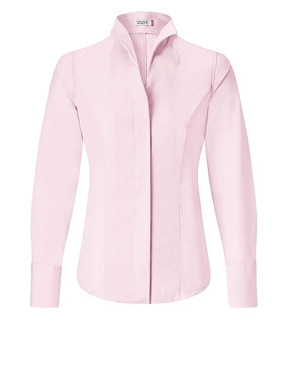 abbdf723f3911 Vincenzo Boretti Camisa Mujer Rosa ES 36 (DE 34)  Amazon.es  Ropa y  accesorios