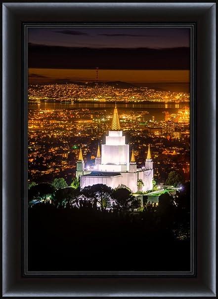 Amazon.com: LDS (Mormon) 15 x 20 Framed Oakland Temple Skyline LDS ...