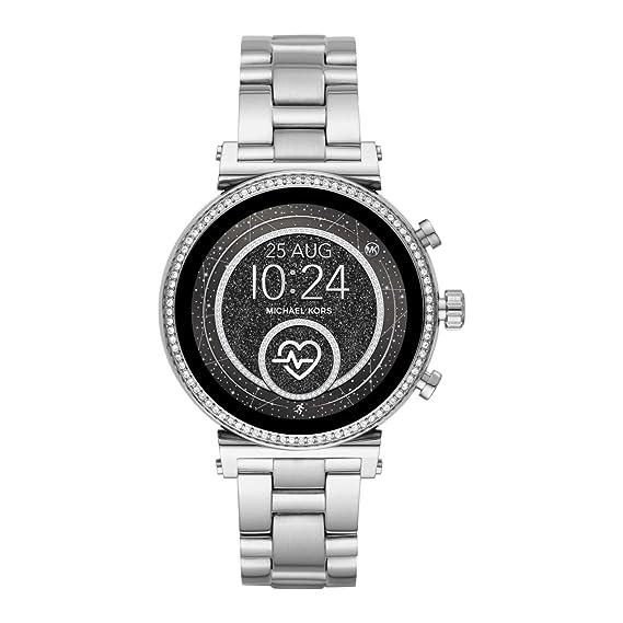 Michael Kors Reloj Analógico-Digital para Mujer Correa en Acero Inoxidable MKT5061