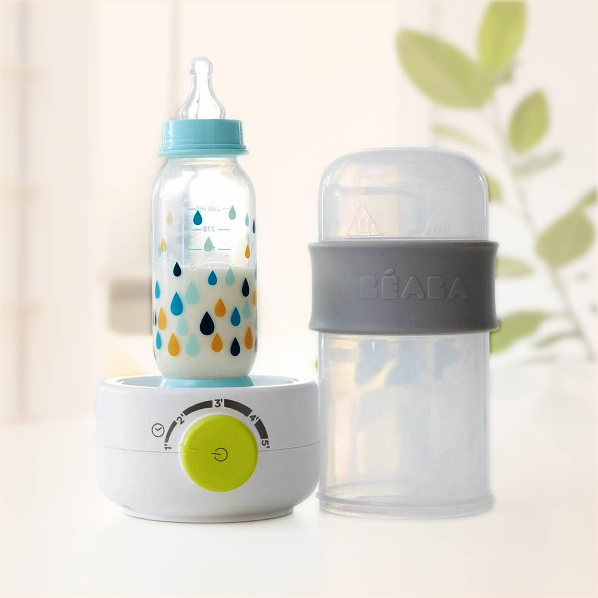 BEABA Quick Baby Bottle Warmer, Steam Sterilizer, Baby Food Heater (3-in-1) Warm Milk in Just Two Minutes, BPA and Lead Free, Simple Temperature Control, Fits All Bottle Sizes - Even Wide Neck, Neon by BEABA (Image #5)