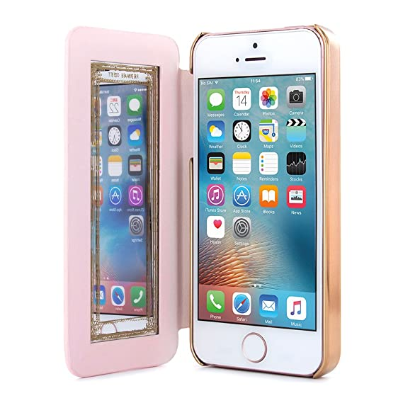 8b613a641f6c64 Ted Baker Official SS16 Folio Case for Apple iPhone 5S with in Nude with  Built in