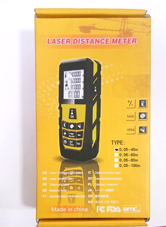 MEASURE MS-60A Laser Distance Measurer - Rangefinder 60m