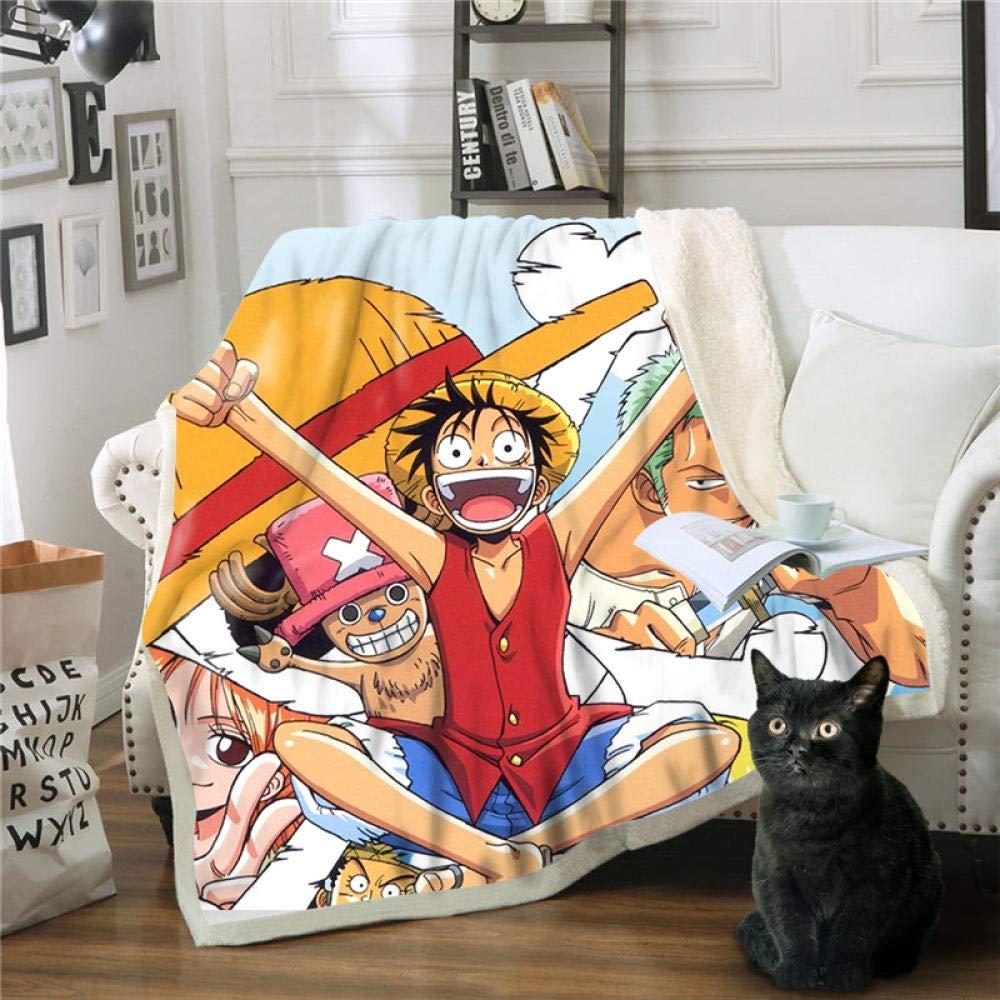 A 200cm 150 BLAMARIA Couvertures et Plaids Anime One Piece Luffy Imprim/é Sherpa Fluffy Couverture Doux en Molleton en Peluche Chaud Voyage Voyage Pique-Nique Camping Throw Couverture