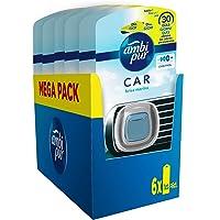 Ambi Pur Car Ambientador Coche, Difusor (6 x 2ml), Elimina y Previene los Malos Olores, Fragancia Brisa Marina, Mega…