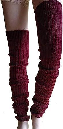 Women Cable Knit Leg Warmer Wear Over Boot Heels as Slouch Sock Boot Topper
