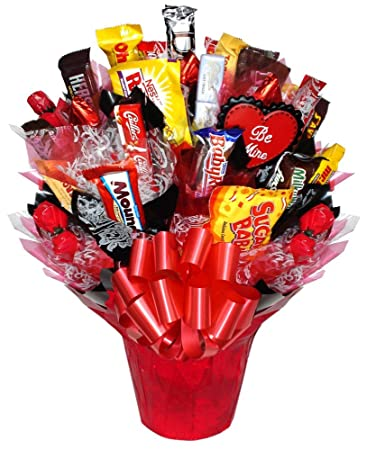 Amazon Com Chocolate Affair Valentine S Day Candy Bouquet Small
