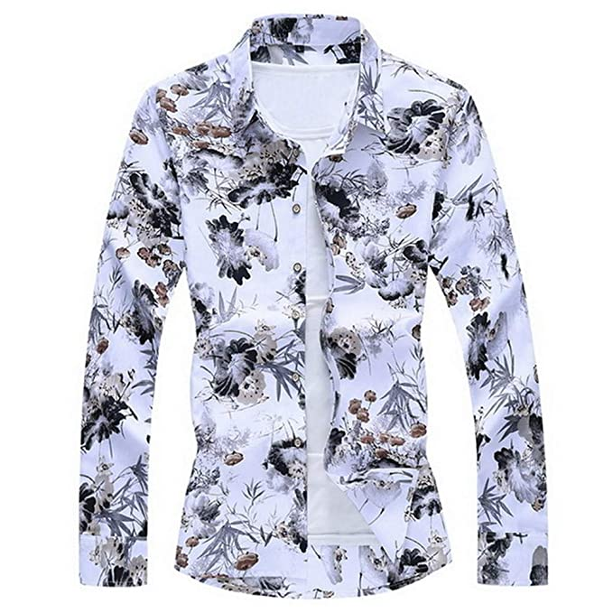 Moda para Hombre 2019 Otoño Primavera Ropa Camisa Manga Larga ...