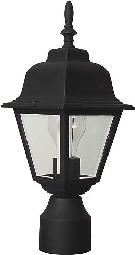 Craftmade Z175-TB Coach Lights Outdoor Pier Mount Post Lighting, 1-Light, 60 Watts, Textured Matte Black 6 W x 16 H