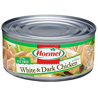 Hormel Canned White and Dark Chunk Chicken, 5 Ounce (Pack of 12)