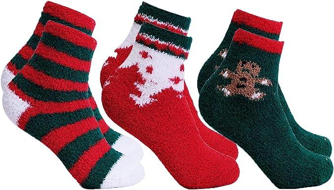 3 paires Noël//Noël Chaussettes Femme Taille 4-8 choix de 2 packs neuf cadeau 74
