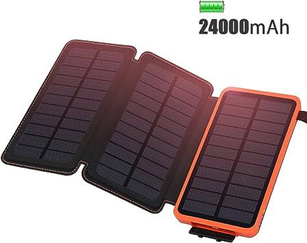 ADDTOP Cargador Solar 24000mAh Cargador portátil Impermeable ...