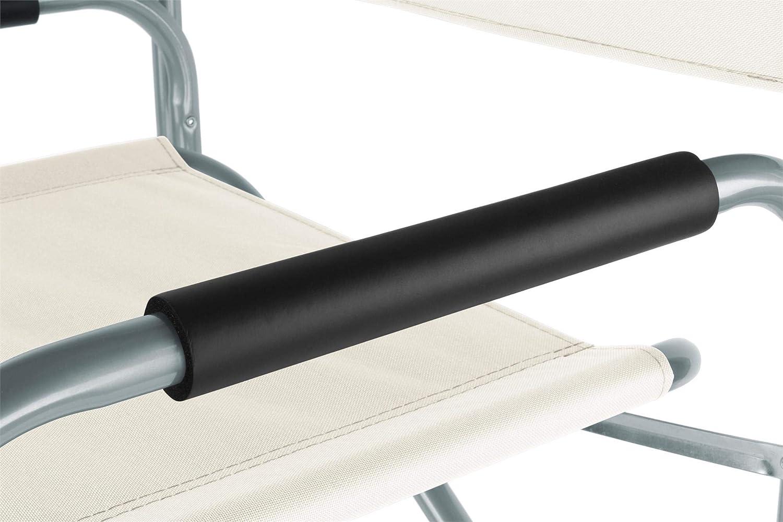 normani Regiestuhl Campingstuhl faltbar bis 150 Kg Stahl mit gepolsterten Armlehnen