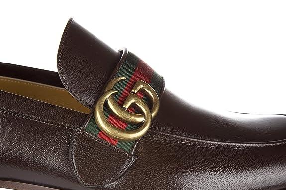 Gucci mocasines en piel hombres nuevo quentin marrón EU 43.5 428609 D3VN0 2156: Amazon.es: Zapatos y complementos