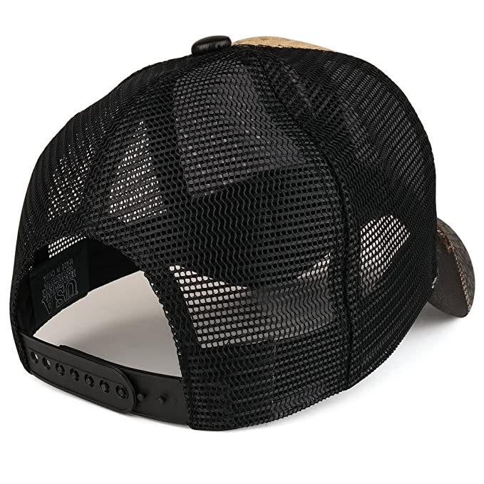 Trendy Apparel Shop Straw Design Metallic Hecho EN Mexico Eagle Metal Logo Mesh Baseball Cap - Tan Black at Amazon Mens Clothing store: