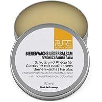 PURE Leather Studio Crema para Piel y Cuero 50ml a Base de Cera de Abeja I Bálsamo reparador incoloro I Impregna y…