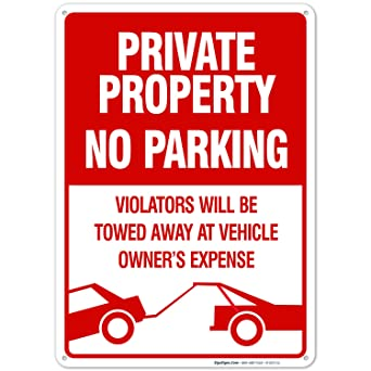 Amazon.com: Señal de prohibido estacionar, señ ...