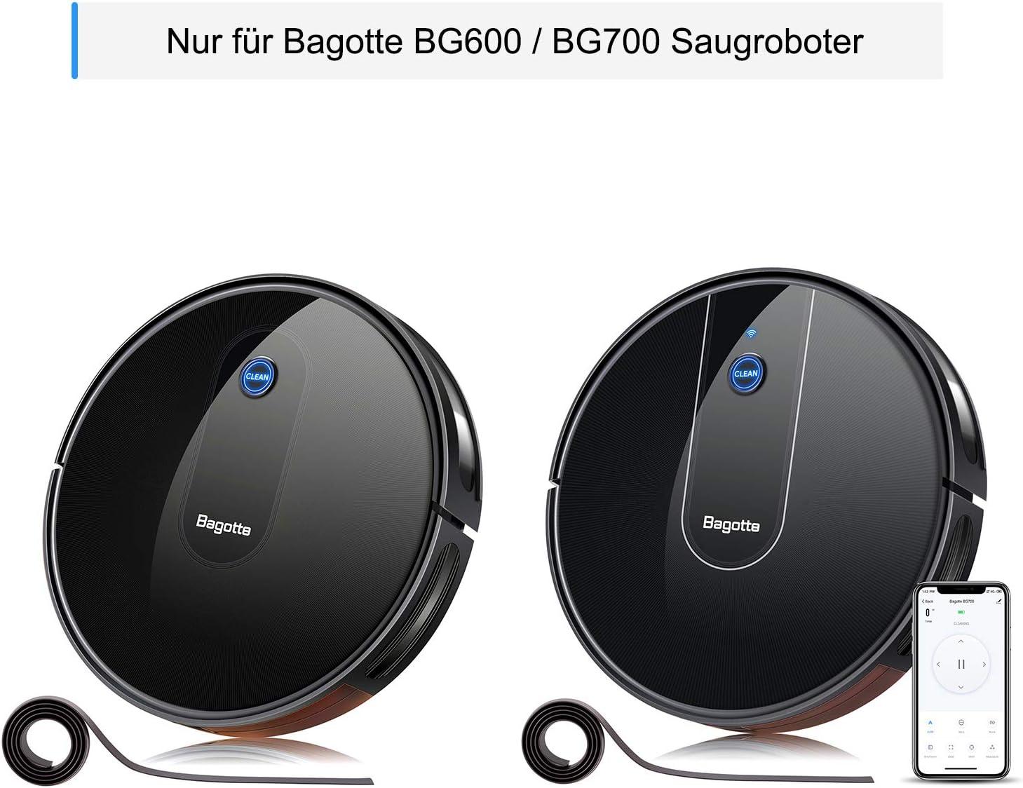 Bagotte BG600 - Accesorio para robot aspirador (4 cepillos laterales, 2 filtros HEPA, 1 cepillo central): Amazon.es: Hogar
