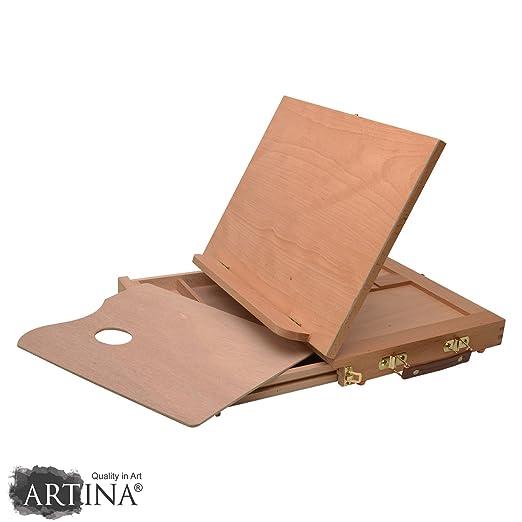 4 opinioni per Artina Cavalletto pittura da tavolo Calais 33x26x3cm- tavolozza e cassetto