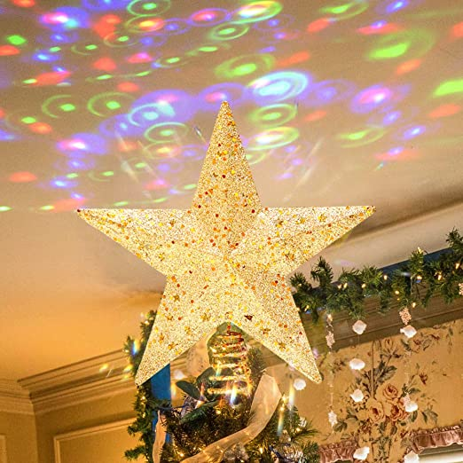 PHITRIC Adorno Estrella de Navidad 3D Luminosa Proyector Luz LED ...