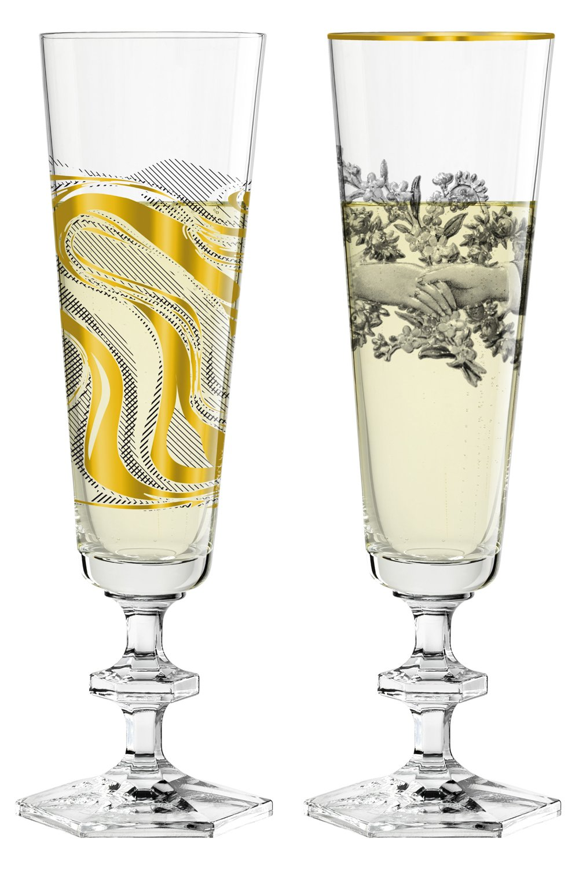 Champagne Double Champagne Flutes Set Ritzenhoff (Marlies Plank, Patricia Urquiola | 35200063520008| Collection Spring 2017
