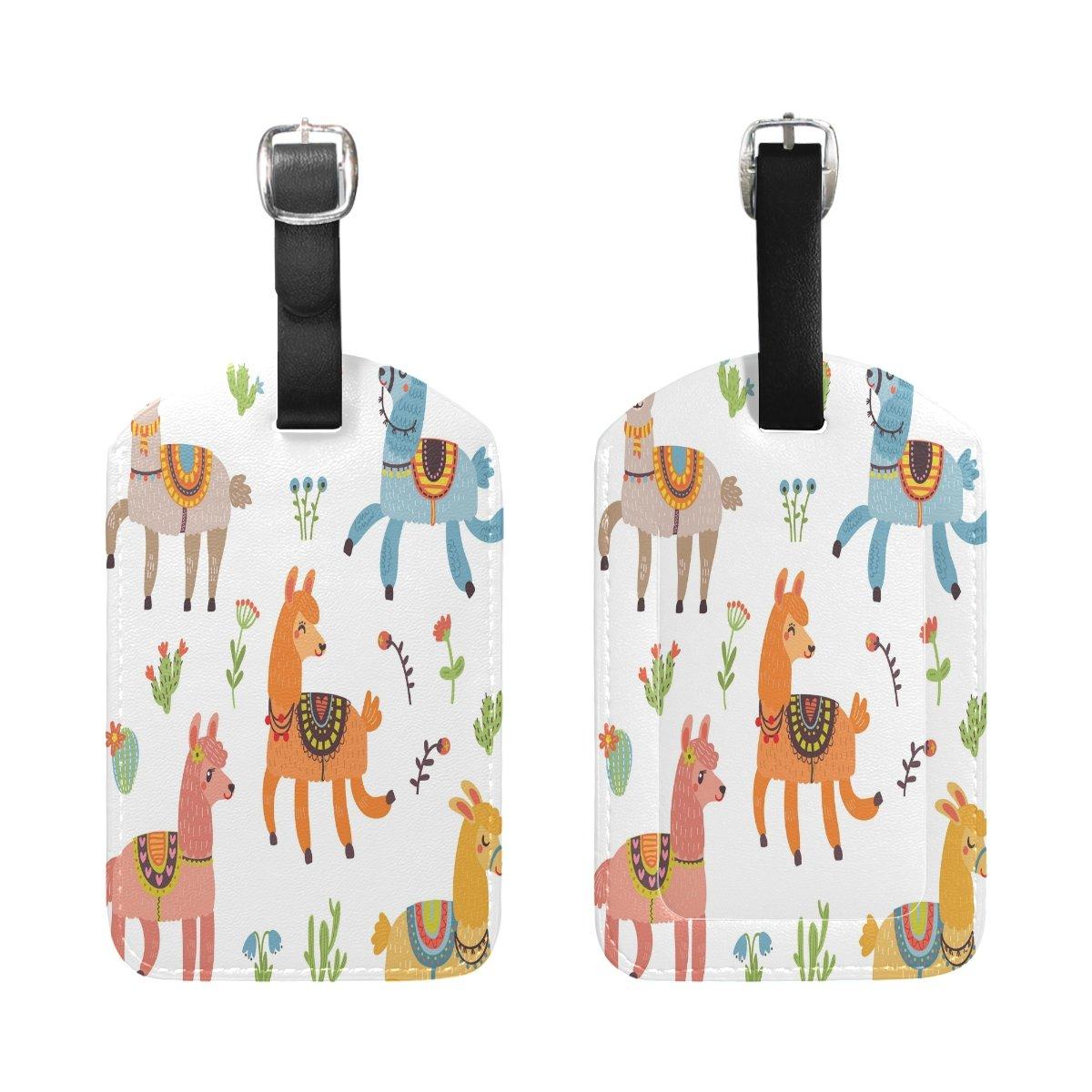 Saobao Travel Luggage Tag Colorful Alpaca PU Leather Baggage Suitcase Travel ID Bag Tag 1Pcs